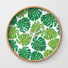 Monstera leaf pattern Wall Clock @pointsalestore    @society6dezigner007  #Wallclock #painting #digital  #pattern #popart  #streetart  #monster #leaf #floral   #plants #decorative  #decoration #green   #earthday #mothersday  #feminine #cool #girly #design #graphicdesign #monstera  #batik