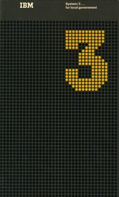 IBM System 3 booklet designed by Matthew Leibowitz. Graphic Design Typography, Graphic Design Illustration, Poster Design, Print Design, Poster Ads, Poster Prints, Page Design, Layout Design, Airport Design