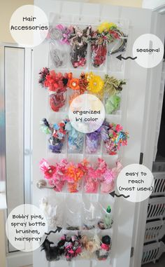 Hair Accessory Storage ~ The Letter Cafe Vinyl Lettering