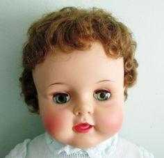 "Vintage Ideal Suzy Suzie Playpal Doll 28"" Auburn Hair Green Eyes 1959 1960 | eBay"