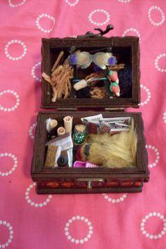 Luna Lovegood's Hogwart's trunk in miniture.