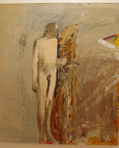 Nathan Oliveira (American, Standing Figure I, Oil and charcoal on canvas. via alongtimealone Art And Illustration, Figure Painting, Painting & Drawing, Bay Area Figurative Movement, Figurative Kunst, Spring Art, Tag Art, Contemporary Paintings, Fine Art Photography