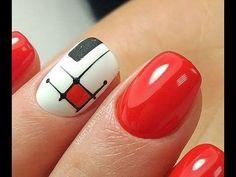 Orange Nail Designs, Nail Art Designs, Great Nails, My Nails, Short Nails Art, Top Nail, Nail Stickers, Trendy Nails, Pedicure