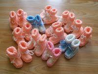 Mámy pro mámy - podpořme předčasně narozené Kulíšky a jejich rodiče: NÁVOD na bačkůrky na čtyřech jehlicích