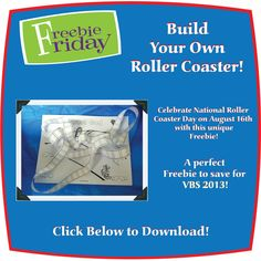 Build Your Own Roller Coaster Printable! #VBS #VBS2013 #VBS13