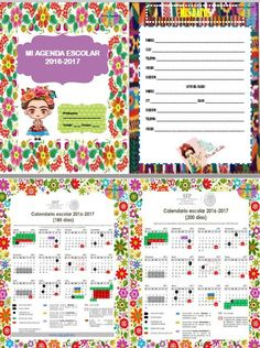 Les compartimos esta bonita agenda escolar 2016 – 2017 diseño de Frida, agradecemos a la maestra Kristi Segundo por esta