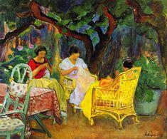 The Athenaeum - Afternoon in the Garden (Henri Lebasque - 1923)