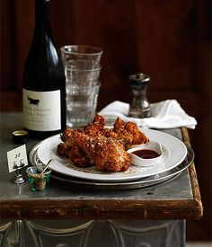 Fried chicken with wine recipe