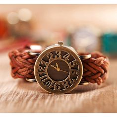Buy Bracelet Leather Watch, Women Wrap Watch, Unique Wrist Watch, Christmas Gift, Birthday Gift at Wish - Shopping Made Fun Women's Dress Watches, Women's Watches, Luxury Watches, Guess Watches, Trendy Watches, Nice Watches, Ladies Watches, Fossil Watches, Wrist Watches