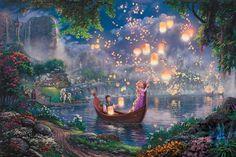 6 for 145  Lrg 12x18 Thomas Kinkade Disney by TreasureChestShoppe