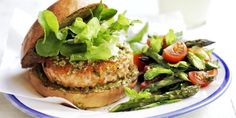 You can make this dish ahead. Form patties and freeze for up to 1 month. Cook from frozen at 425 degrees F until warm and cooked through, 15 to 20 minutes. Leave bun out for Low Carb.