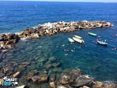 Crystal Clear water at Cinque Terre! Photo taken on our trip on June 28, 2014  https://www.smarttrip.it/en/2948-florence/4-day-trips/184-cinque-terre-sea-and-believe