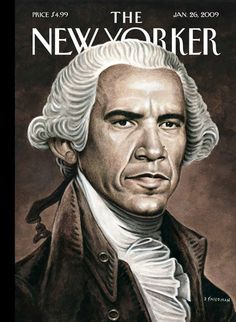Obama on the cover of The New Yorker, January 26, 2009. Illustration by Drew Friedman