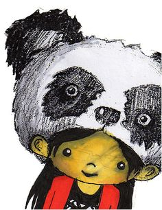 Tanya Panda Head by Amy Blue #panda #girl #amyblue