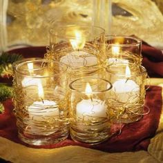 Wire-Wrapped Candleholders Whether presented in groupings or individually, these candles will produce a lovely ambiance. View this story