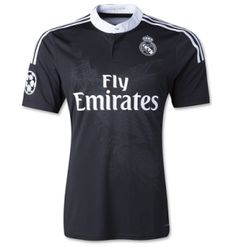 14-15 Real Madrid Football Shirt Cheap DRAGON BLACK THIRD JERSEY [1408271121]