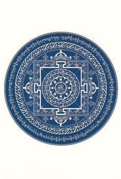 Medicine Buddha Mandala. Blue like the sky.  Heal by hugging more & saving life. No ill dwell within.