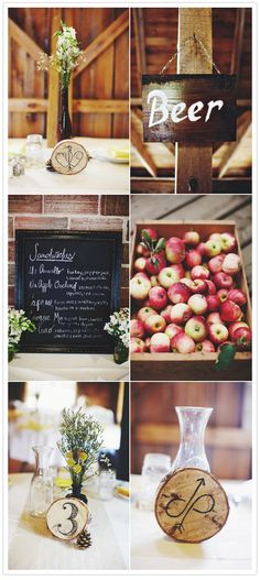 would love the food and drink to be local- feature farmers and artisans on the menu? Woodsy Wedding, Forest Wedding, Fall Wedding, Our Wedding, Wedding Stuff, Wedding Themes, Wedding Signs, Wedding Events, Wedding Ideas