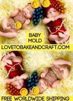 Baby mold Baby mould Doll mold Doll mould Fondant baby Gumpastebaby babydollmold babydollmould Beautiful silicone double sided baby mold One baby Fondant Baby, Baby Cupcake, Polymer Clay Fairy, Polymer Clay Dolls, Silikon Baby, Baby Mold, Baby Cake Topper, Silicone Dolls, Baby Fairy