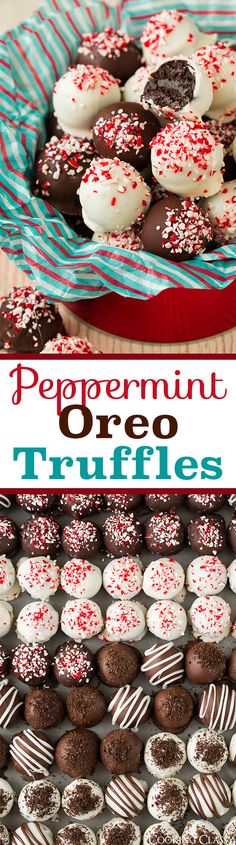 Oreo Truffles - only 5 ingredients and they are DIVINE! Always a hit anywhere I take them!Peppermint Oreo Truffles - only 5 ingredients and they are DIVINE! Always a hit anywhere I take them! Christmas Sweets, Christmas Cooking, Holiday Cookies, Holiday Baking, Christmas Desserts, Holiday Treats, Holiday Recipes, Christmas Truffles, Xmas Food