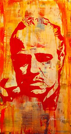 The Godfather - Illustration of Don Vito Corleone #GangsterMovie #GangsterFlick