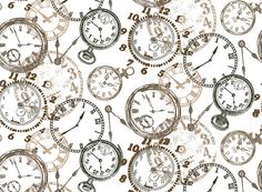 3553 Time Pocket Watch Clock Chintz