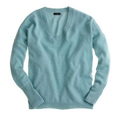 Collection cashmere boyfriend sweater by J.Crew love this color, probably my favorite, light blue green...