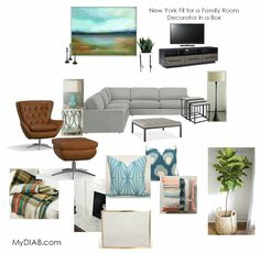 New York Fit for a Family Room - Decorator in a Box