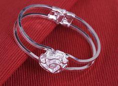 925 Silver Bracelet Rose FREE SHIPPING от Spillikinsbijou на Etsy
