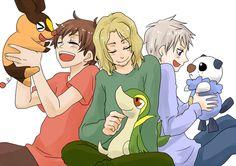 Pokémon is now even more awesome... Bad Touch Trio Hetalia with Pokémon!!!