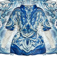 #Porcelain prints fashion trend . Follow blue ceramic designers collection