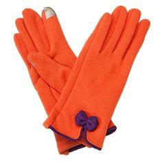 Gameday Bow Gloves Orange/Purple | underthecarolinamoon.com