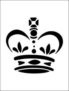 Crown stencil from The Stencil Library BUDGET STENCILS range. Buy stencils online. Stencil code MS49.