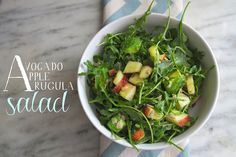 apple avocado arugula salad by shutterbean, via Flickr