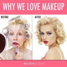 Or, as one of our Facebook fans so aptly put it: Why We Love Makeup ARTISTS!! =D   Have a great weekend! #CoastalScents #makeup #beauty #funny #motd #funnymakeup