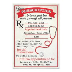 133 best nursing school graduation invitations images on pinterest medical school graduation prescription invitation filmwisefo