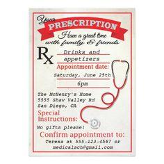 medical school graduation party invitation  graduation parties, invitation samples