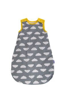 Babasac - Grey Cloud with Yellow Trim. Multi-layer and Multi-tog baby sleeping bag