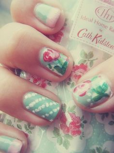 Shabby Chic Nail Designs - so fun!