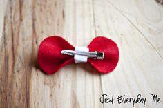 felt hair bow diy. so easy and cute!