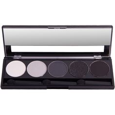 Atika Cosmetics Grey Shades Matte & Shimmer Eyeshadow Makeup Palette found on Polyvore featuring beauty products, makeup, eye makeup, eyeshadow and palette eyeshadow
