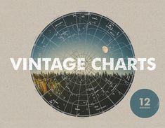Vintage Charts  12 Designs