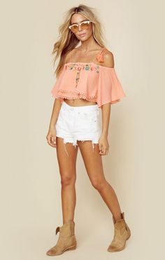 Rahi Cali Boho Clothing Flora Tassel Top