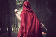 Little red riding hood Little Red Hood, Little Red Dress, Red Aesthetic, Aesthetic Pictures, Fantasy Magic, Red Riding Hood, Illustrations, Pretty Outfits, Pretty Clothes