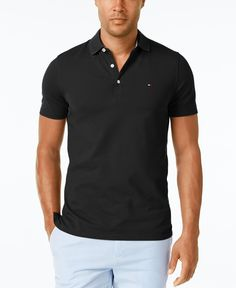 9ee7309a2 Tommy Hilfiger Men's Thom Custom Fit Stretch Polo & Reviews - Polos - Men -  Macy's