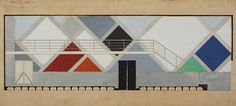 Wand van Café-Restaurant Aubette, Strasbourg, 1926-1928. Collectie NAi / DOES AB 5209. Bruikleen van Instituut Collectie Nederland, Rijswijk/Amsterdam. Gift Van Moorsel.