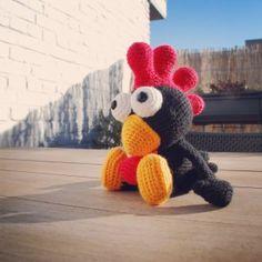 amigurumi black rooster $ pattern