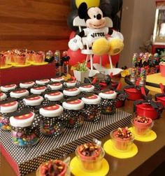 cumpleanos un ano mickey mouse dulces