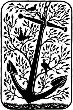 bird on anchor  bird of faith/peace