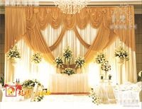 High Grade Stage background wedding backdrop stage curtain Backdrop for Wedding Decoration 10ft*20ft Luxurious wedding backdrop